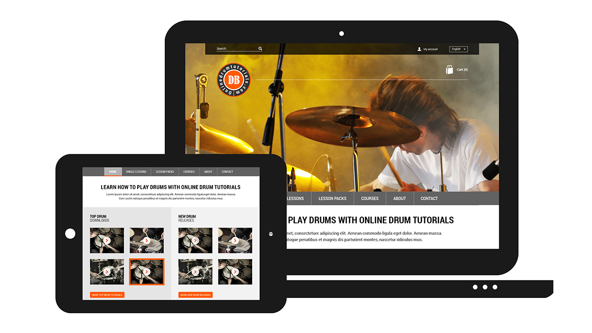Online Drumtutorials website